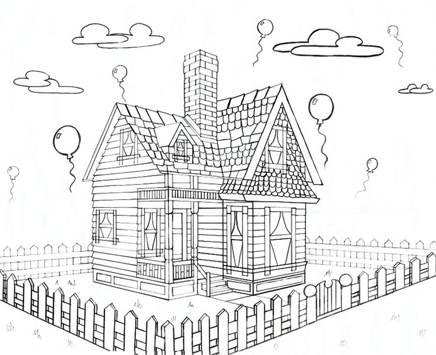 Disney House From Up 2 Point Perspective By Keira Jade Deviantart