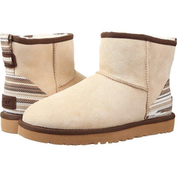 Womens Boots UGG Classic Mini Serape Cream Twinface