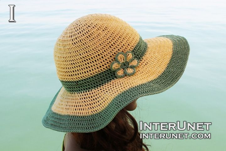 Crochet summer hat  f1b81bb03d9