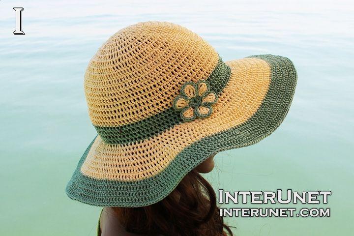 Crochet summer hat  abd9cf82066