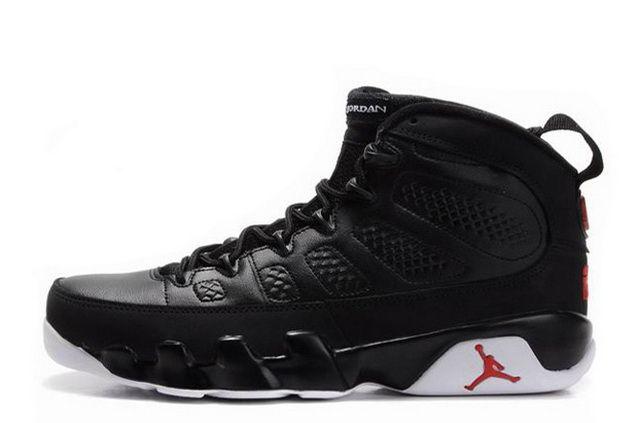 Air Jordan 9 Retro BlackWhiteVarsity Red For Sale