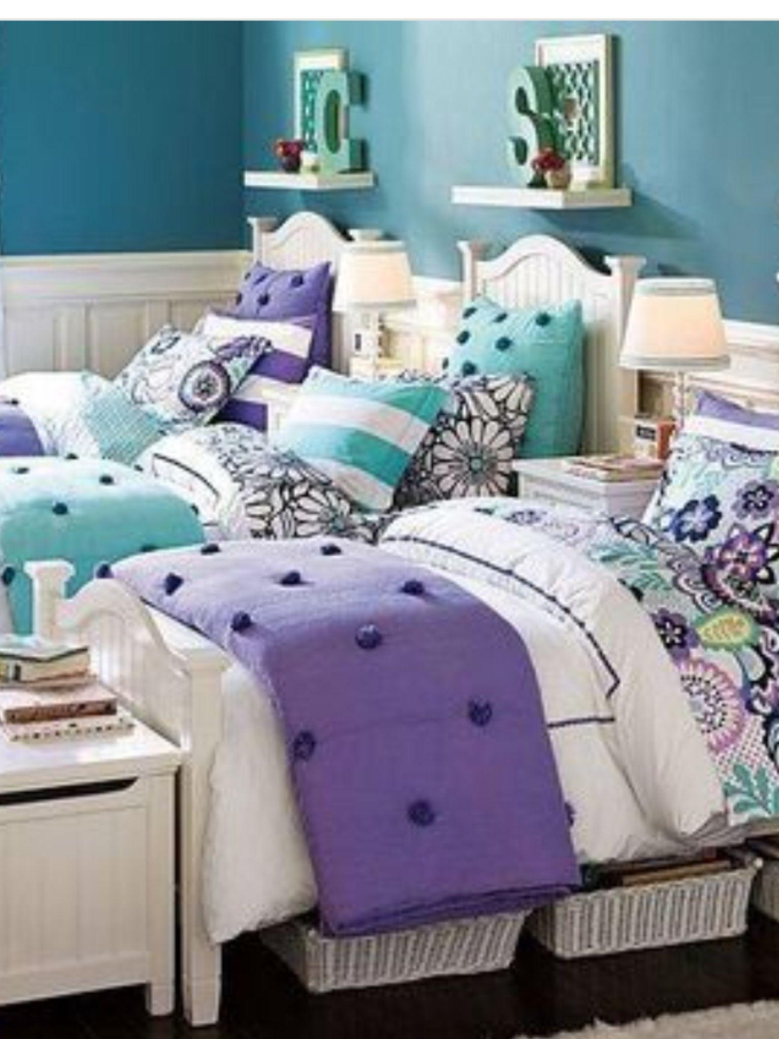 Perfect Triplets Bedroom | Girl bedroom designs, Girls ...