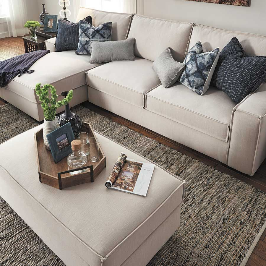 The Kendleton Stone Chair 2pc Sectional Sofa W Laf Chaise
