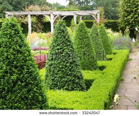 English garden landscape an english landscape garden in summer english garden landscape an english landscape garden in summer with box hedging and topiary workwithnaturefo
