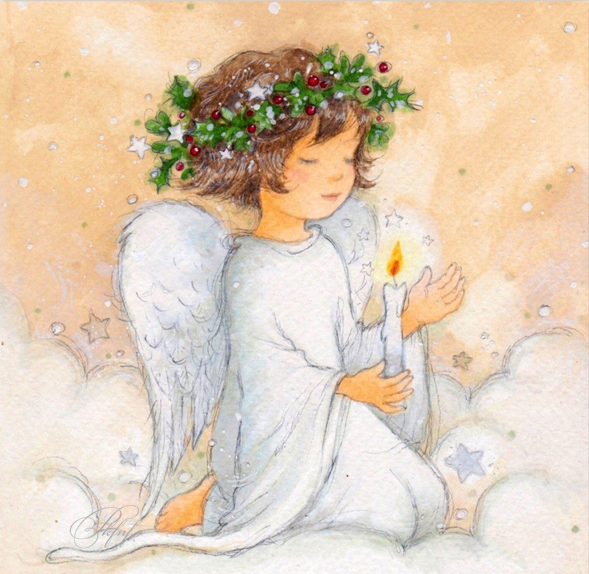 рождественские ангелы рисунки город лянтор