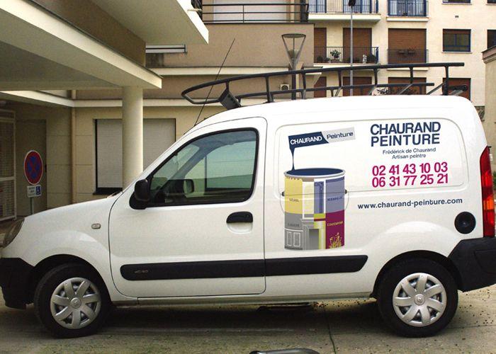 Publicité adhésive véhicule Kangoo