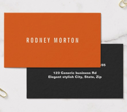 Modern orange gray simple generic professional business card masculine dark gray and orange business card template with white text modern plain business cards for men accmission Gallery