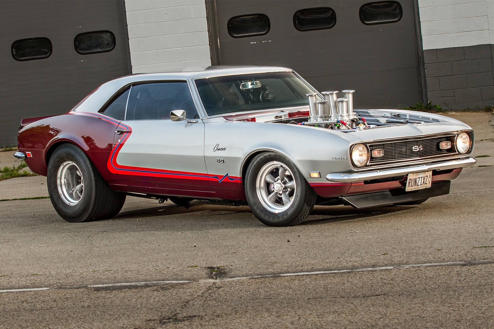 Eric agase s 1968 camaro is a pro street car that actually runs on the street