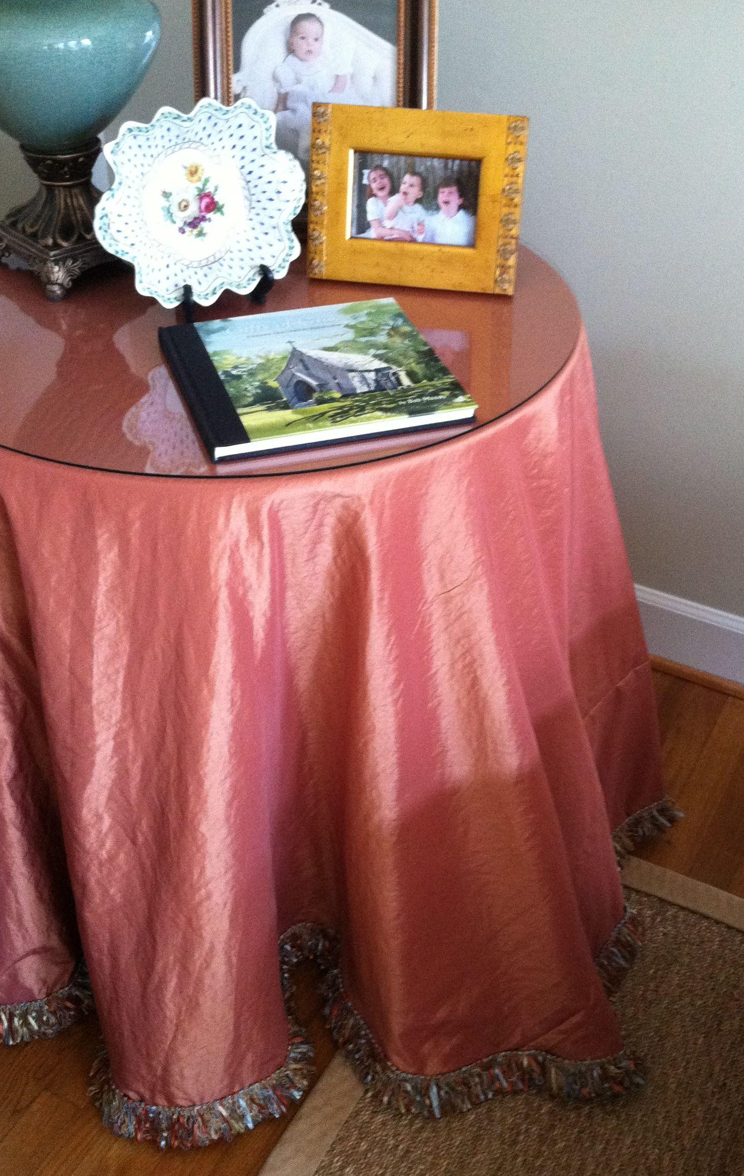Making A Round Table Skirt Table Skirt Bedroom Organization Diy Diy Table