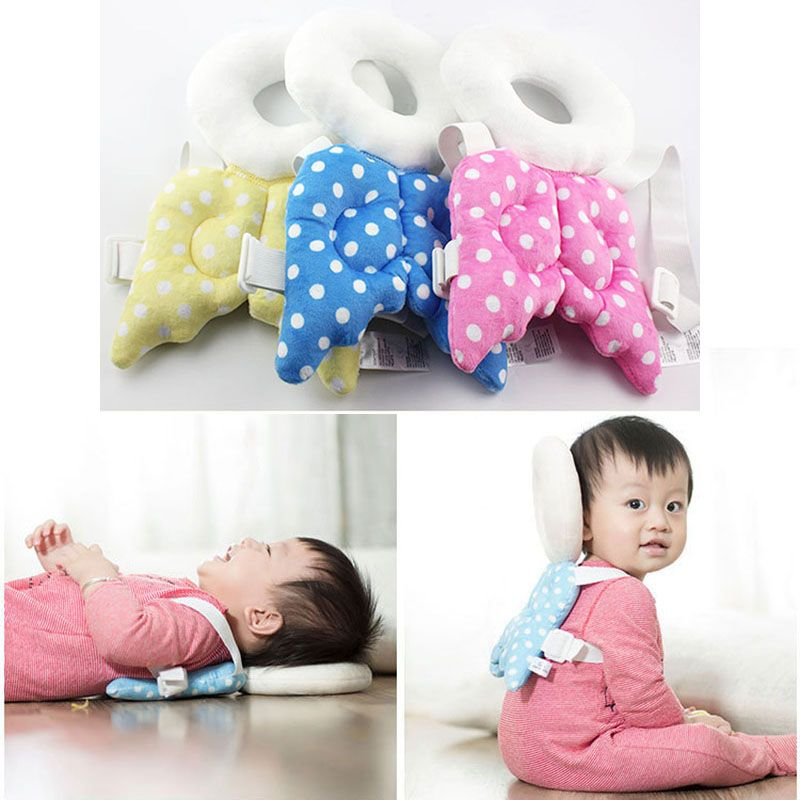 Baby Head Protective Mat Angel Wings Soft Nursing Pillow