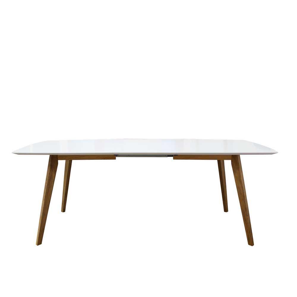 Bezaubernd Esszimmertisch Zum Ausziehen Galerie Von Design Esstisch In Weiß Eiche Ausziehbar Küchentisch,esszimmertisch