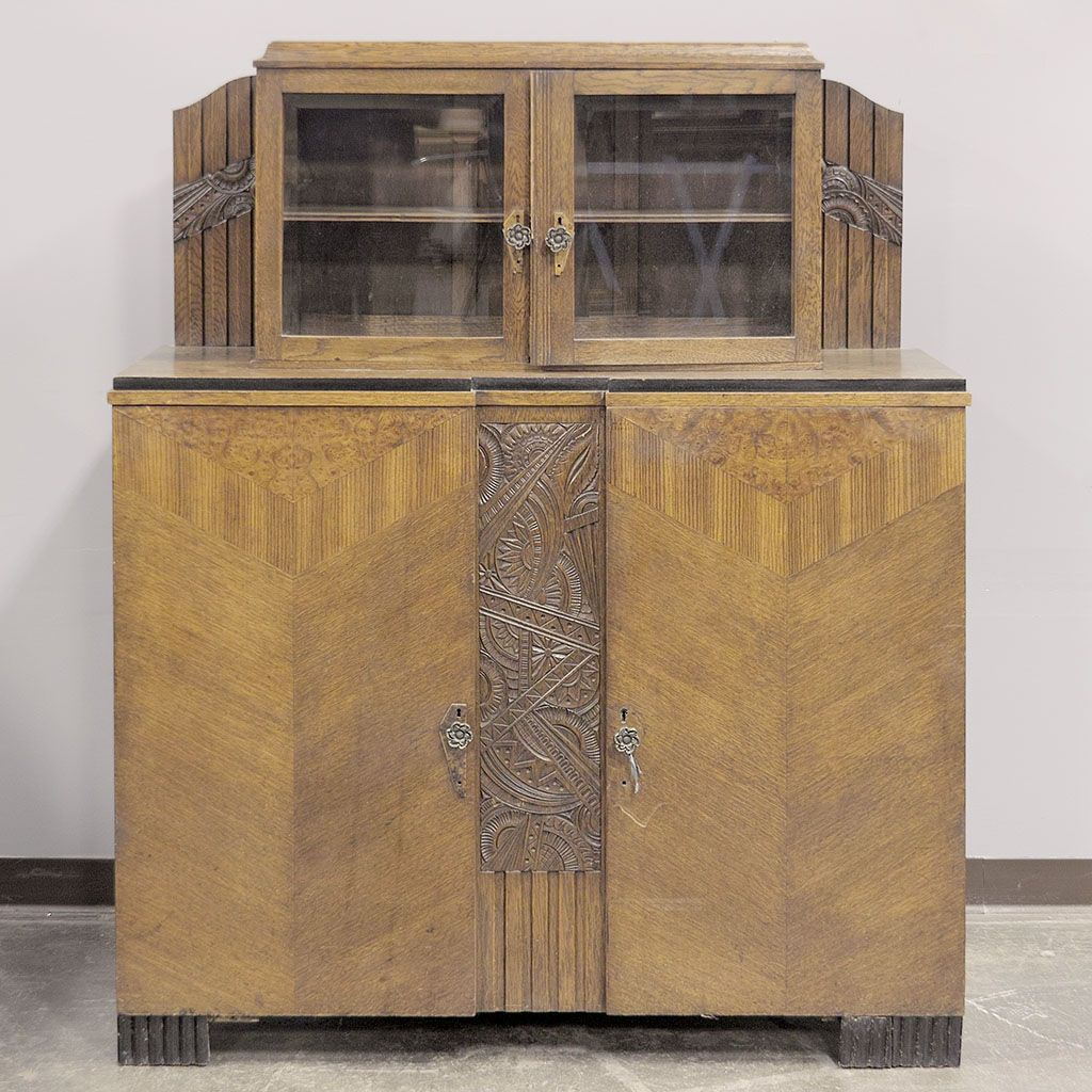furniture art deco style. SIDEBOARD/BUFFET - Art Deco Style Belgian Oak Furniture D