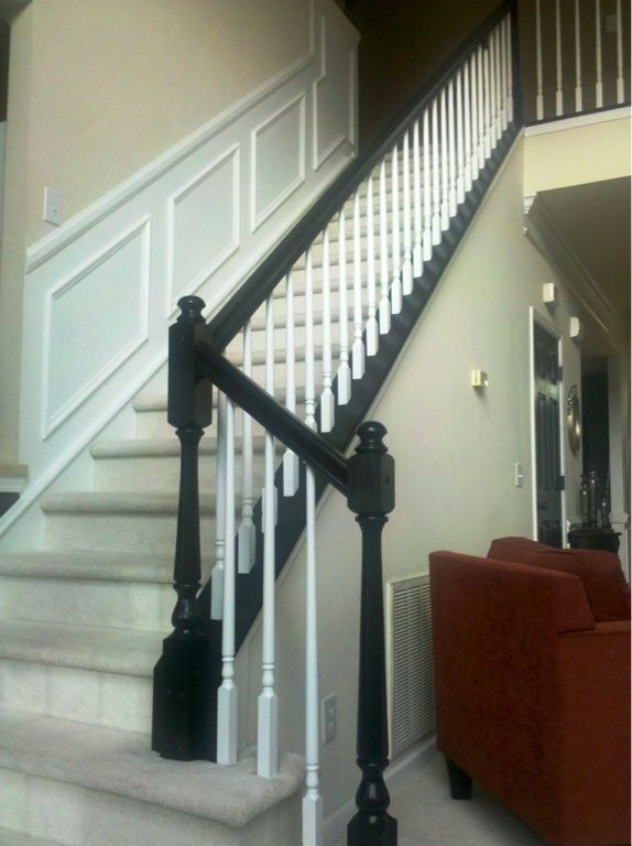 Best Staircase Remodel In Progress We Have Painted Rails 400 x 300