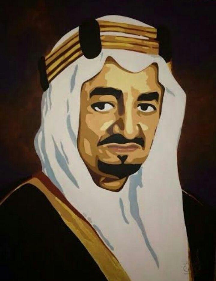 بورتريه للملك فيصل بن عبدالعزيز ال سعود للفنانه التشكيليه فاطمه محيي الدين Color Palette Design Color Palette Art