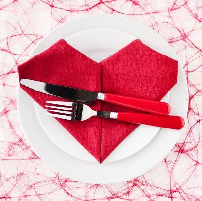 Un simpatico cuore rosso per la #tavola di San Valentino!