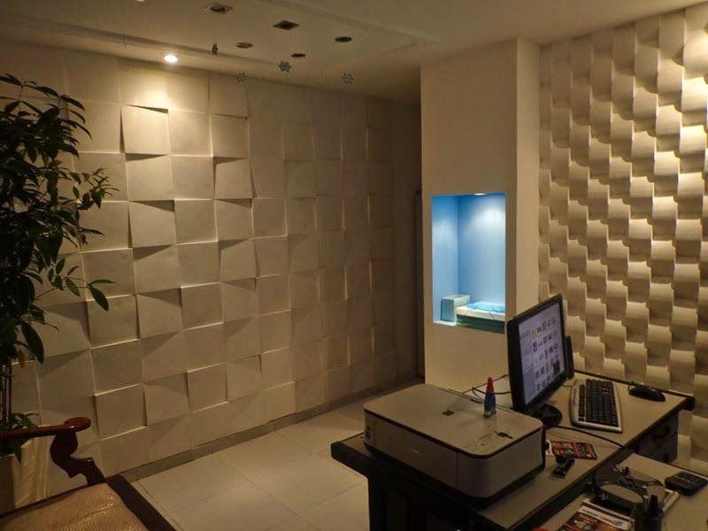 Construindo minha casa clean 25 pain is geom tricos 3d - Placas decorativas paredes interiores ...