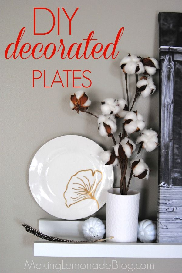 Another $1 decorating idea... DIY decorated plates! Hereu0027s how to decorate your & Another $1 decorating idea... DIY decorated plates! Hereu0027s how to ...