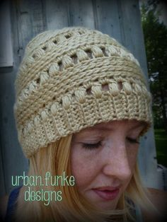 free slouchy beanie pattern ribbed | Free Slouchy Beanie Crochet Pattern | Crocheting: Crochet Slouchy Puff ...