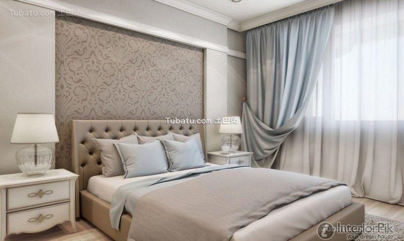 Simple European style bedroom interior design effect ...