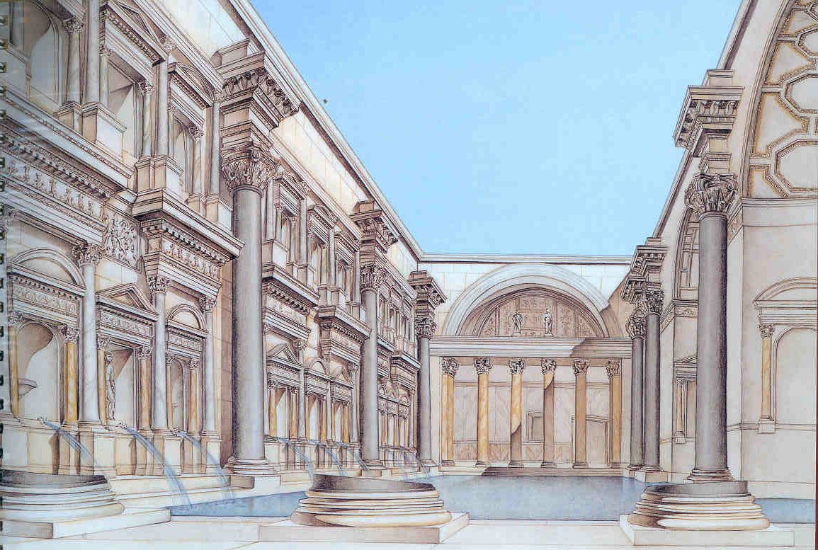 Roman feild main dado and cornice