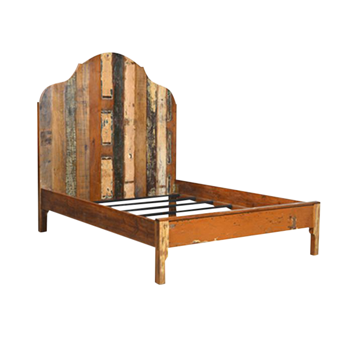 distressed painted cal king wooden bed frame - California King Wood Bed Frame