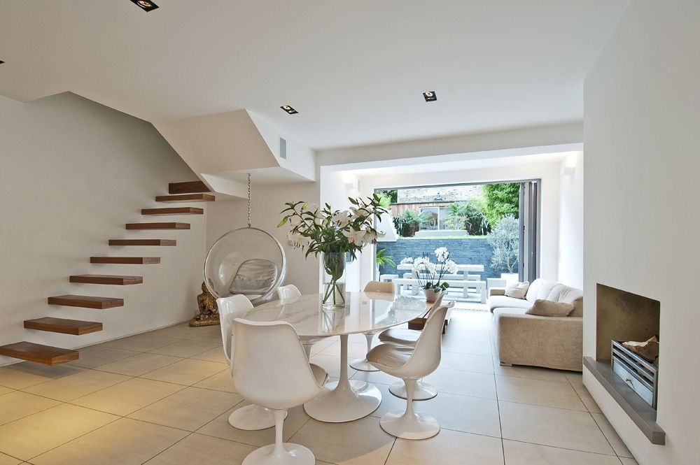 Best Open Plan Kitchen With A Floating Staircase Shootfactory 640 x 480