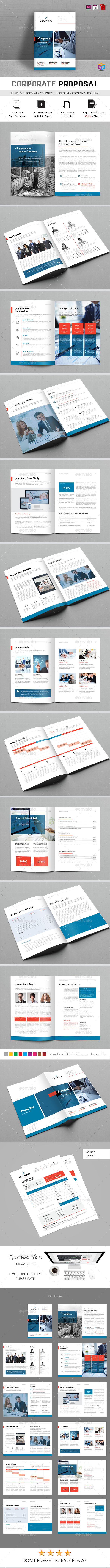 Proposal Template — InDesign Template #a4 #light #brand #corporate ...