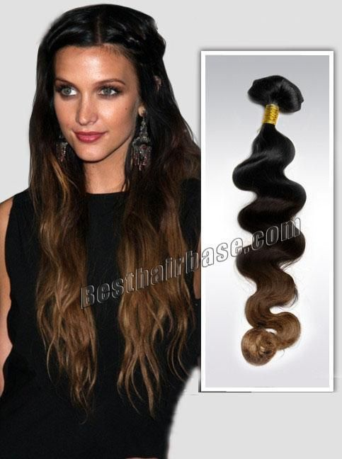 Three Tones Ombre Clip In Hair Extension Body Wave Full Head 9