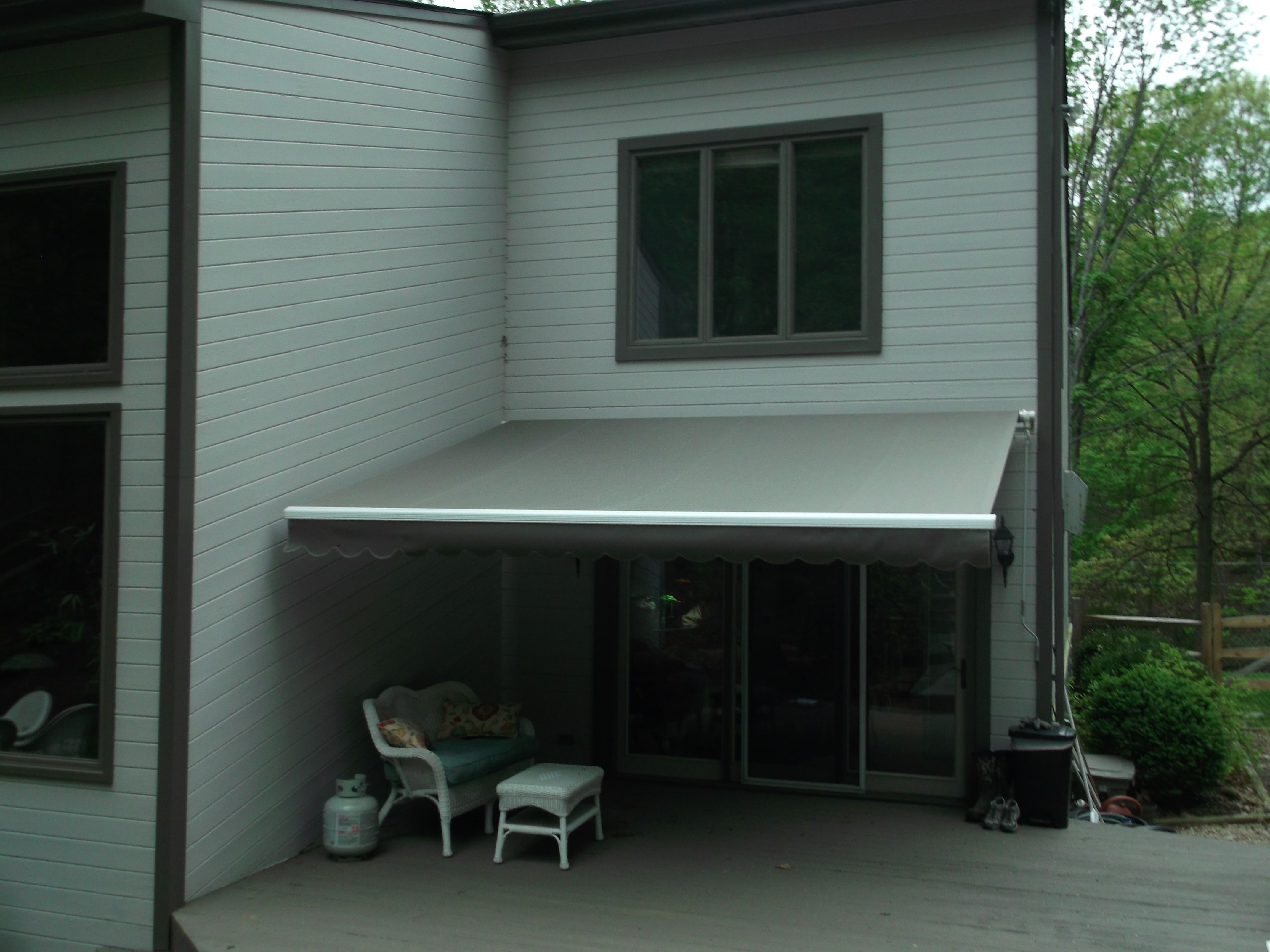 here is the before photo of a retractable awning that we did the