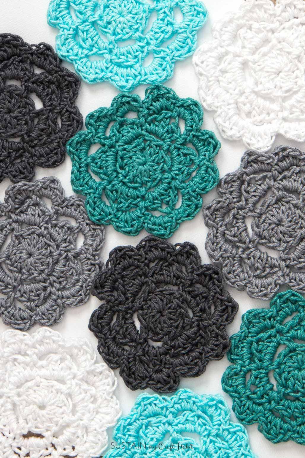 Easy Crochet Coasters Pattern for Beginners | Crochet coaster ...