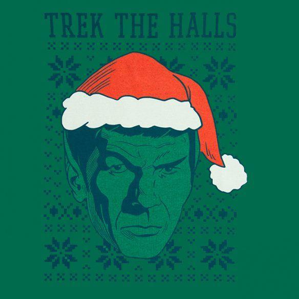 Spock Trek the Halls Tee