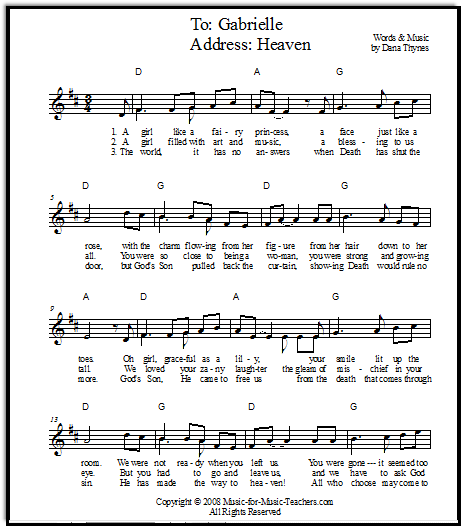 Free Christmas Piano Sheet Music Notes Once In Royal: A Song For A Memorial Service For A Beloved Young Friend