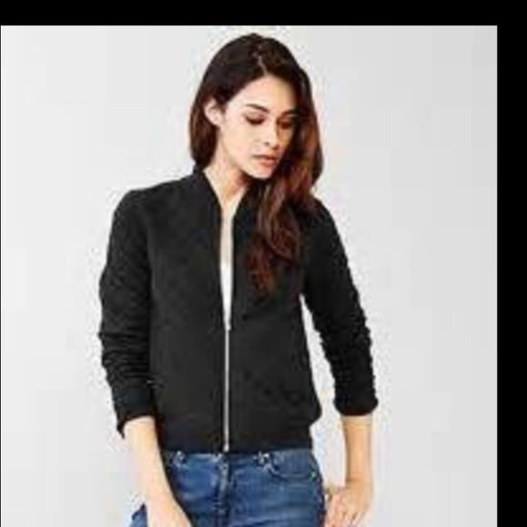 Quilted Texture Nwt Gap Jacket Boutique Black Quilt Quilted