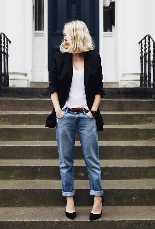 Boyfriend Jeans Inspiration Album | How slimming beauty matches clothes