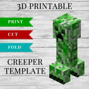 photo regarding Minecraft Printable Creeper identified as 3D Minecraft Printable Creeper Papercraft Template