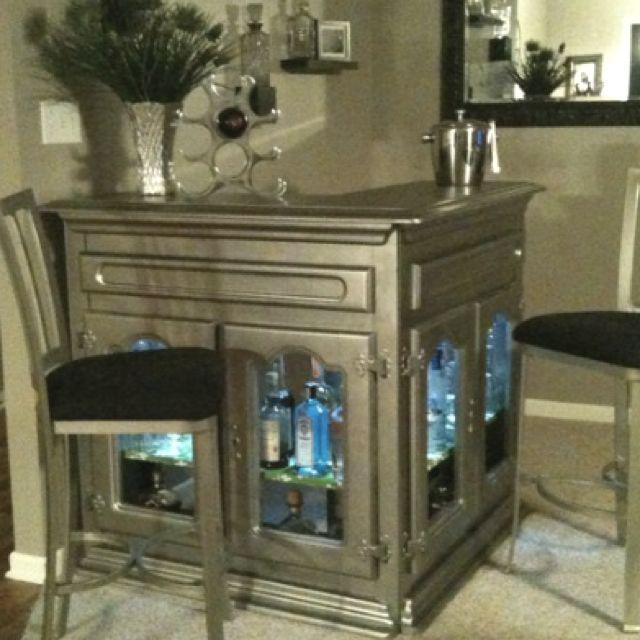 Corner Home Bar Ideas: Corner Bar With Lighted Shelves But Not This Color