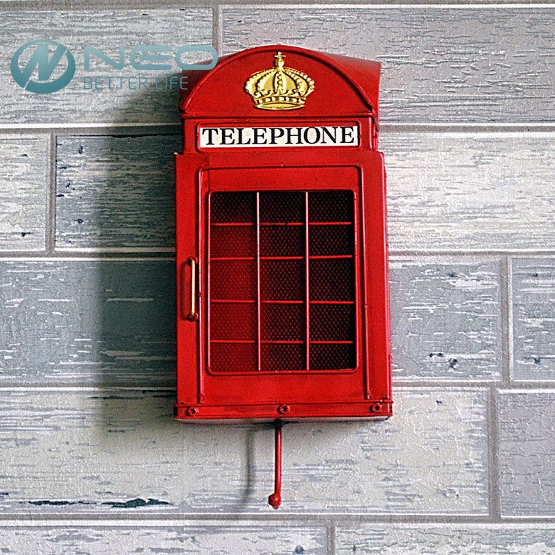 NEO Retro European Street London Telephone Booth Ornament with ...