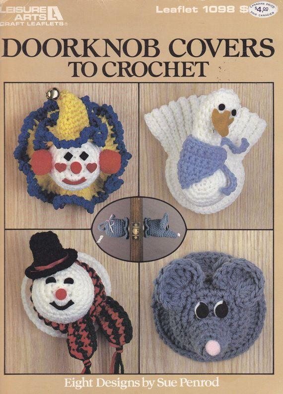 Vintage Crochet Pattern Book - DOORKNOB COVERS to CROCHET - chicken ...