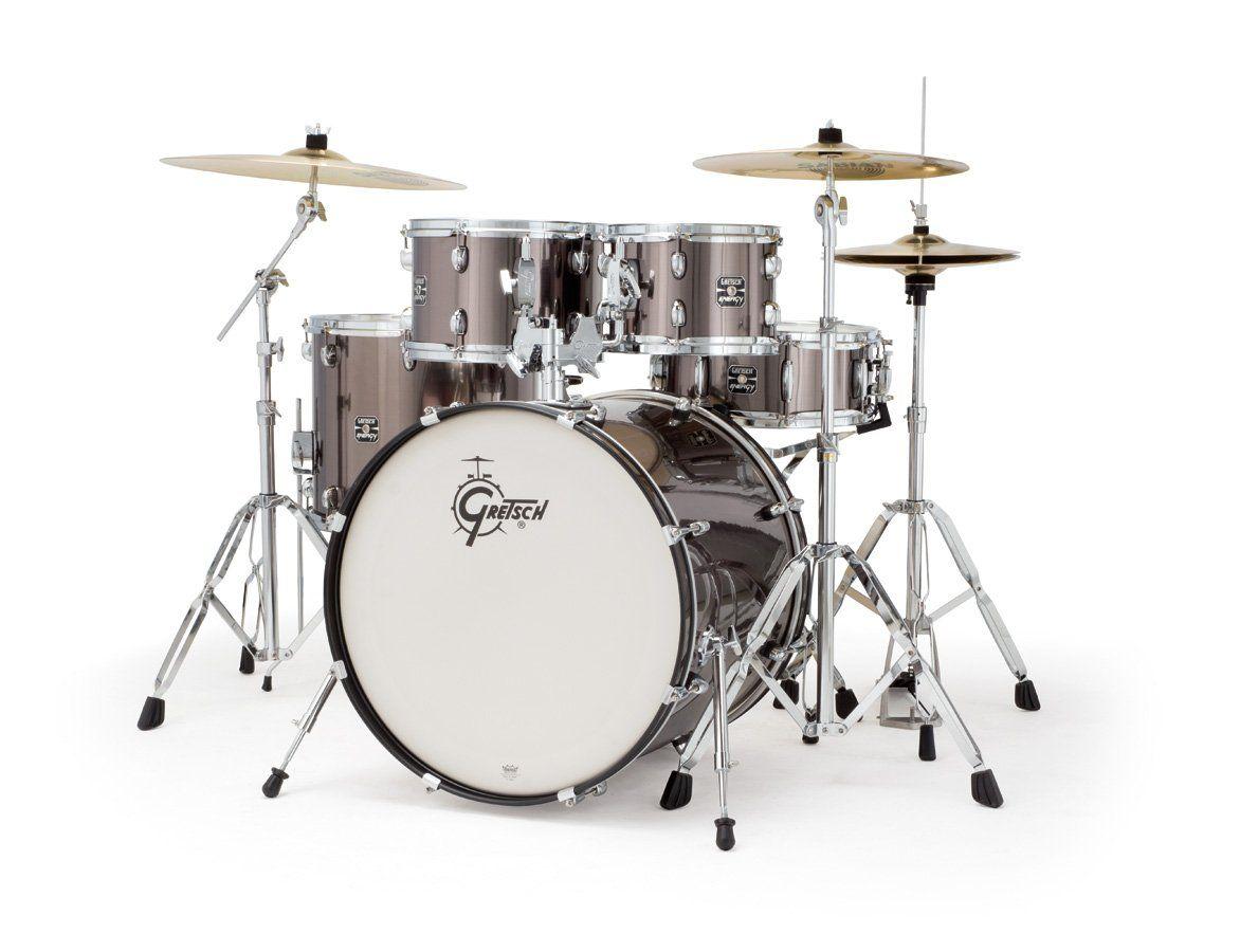 Gretsch GEXE825P Energy Drum Set, 5-Piece, Black | Drums