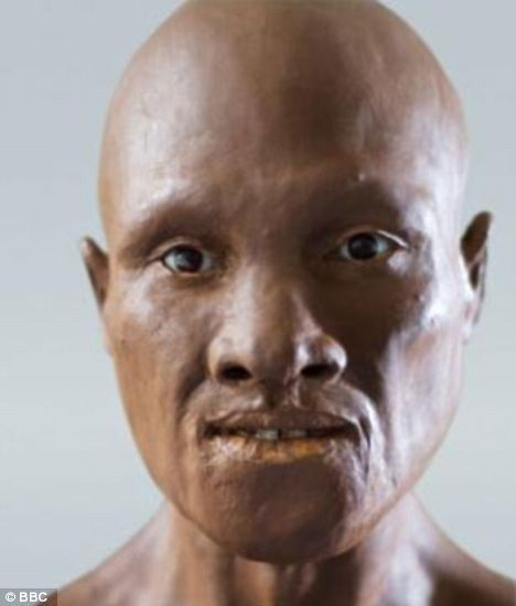 Forensic Scientist Richard Neave reconstructed the face based on skull fragments from 35,000 years ago. He said the skull doesn't look European or Asian or African. It looks like a mixture of all of them. 'That's probably what you'd expect of someone among the earliest populations to come to Europe.' LOL!