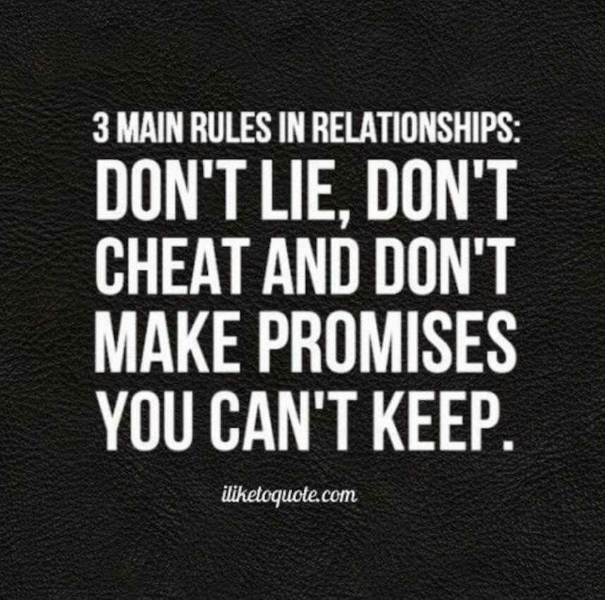 Rule number 4 Break them and you're gone Promise quotes