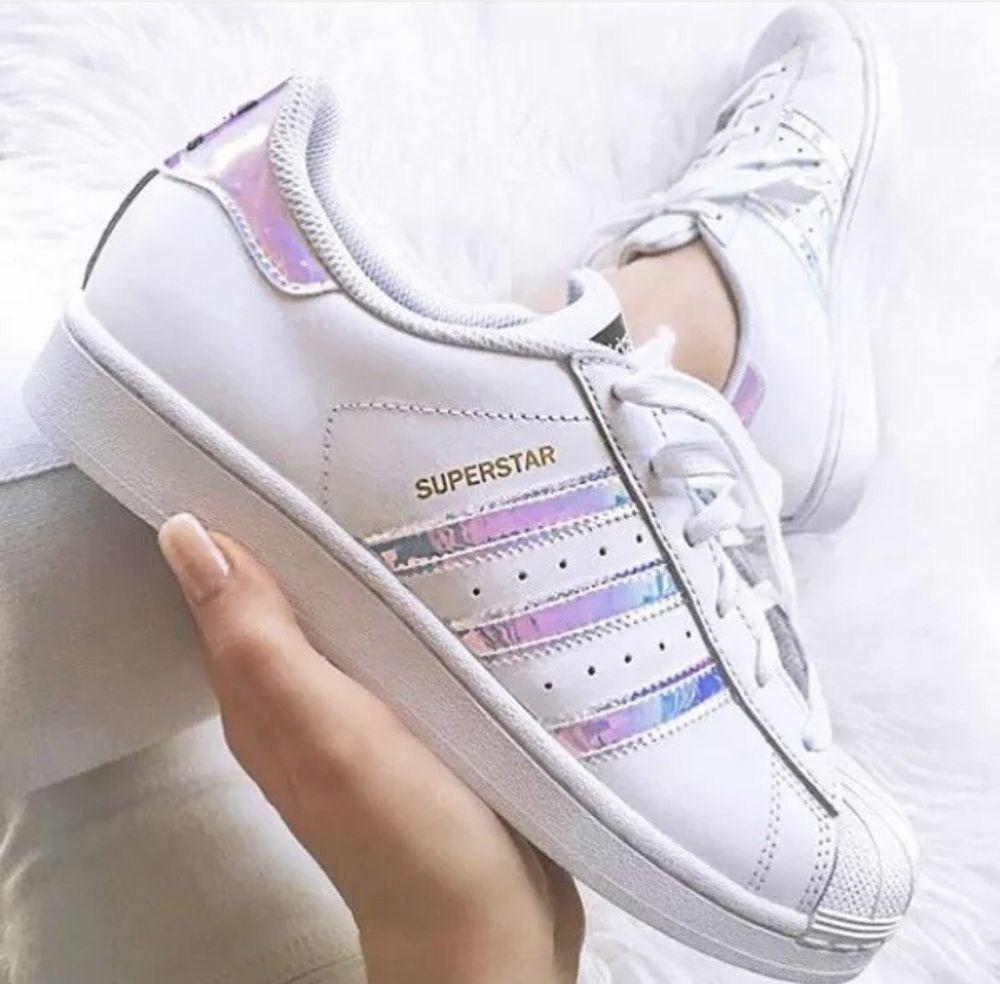 adidas superstar holographic stripes ebay