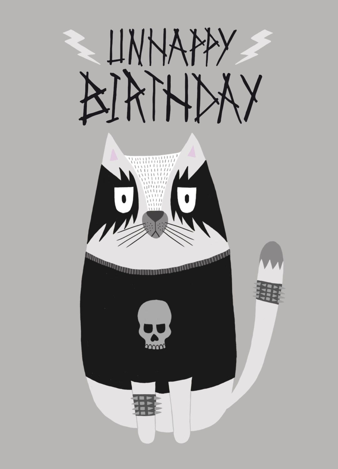 Goth Birthday Tumblr Happy Birthday Black Cat Birthday Cat