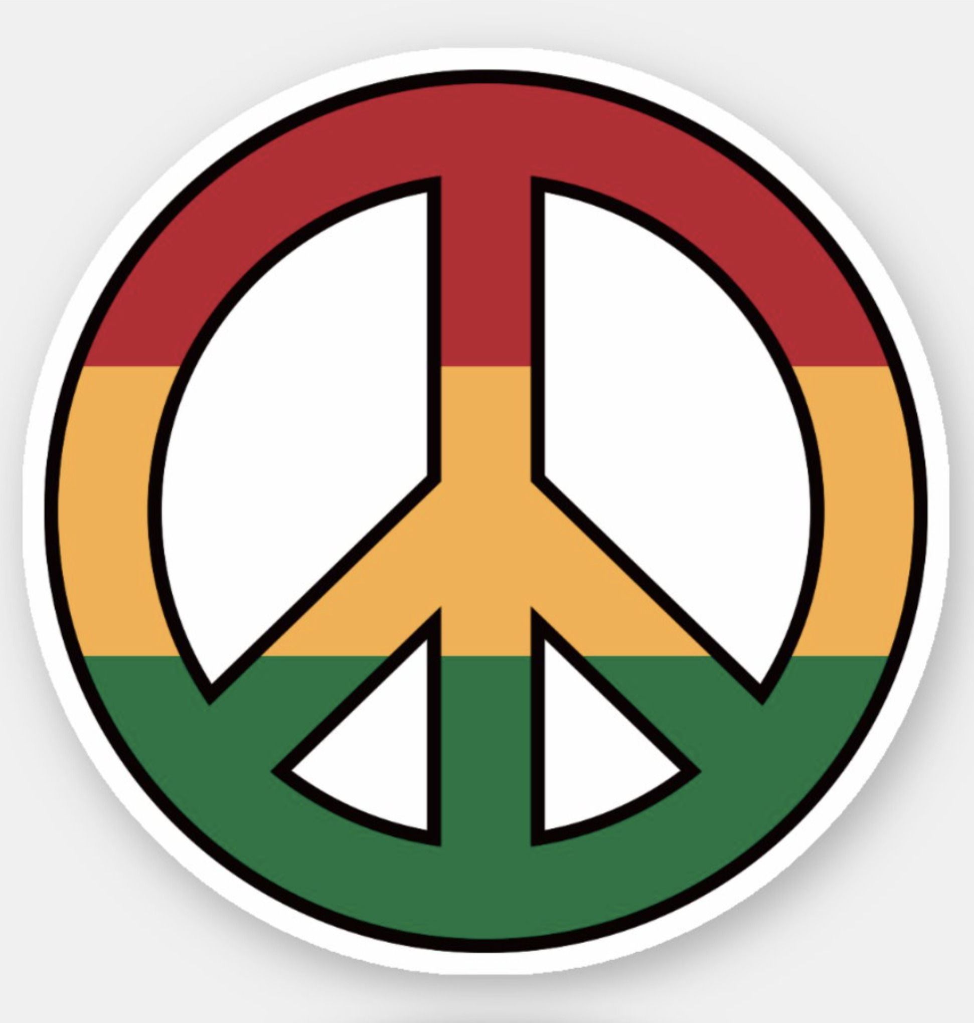 Peace Sign Red Swirl Sticker for Laptops Water Bottles and Windows