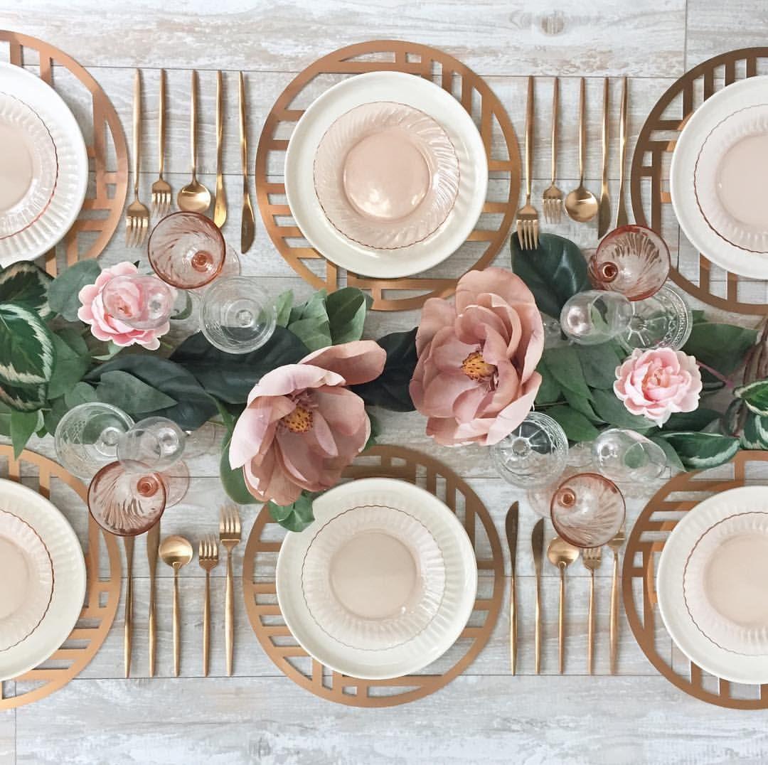 borrowed BLU // dinnerware rentals / Nexus Rose Gold