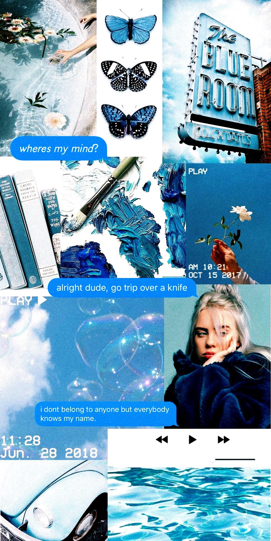 Aesthetic Billie Eilish Blue Wallpaper Blue Wallpaper Iphone Iphone Wallpaper Tumblr Aesthetic Blue Aesthetic Wallpaper