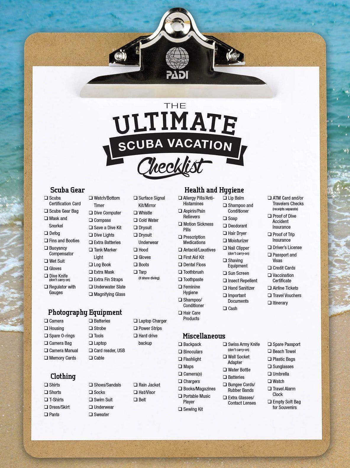 The Ultimate Scuba Vacation Packing List Posted By Drew Schneier