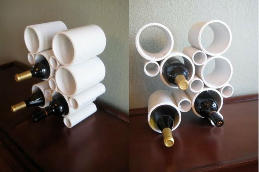Un botellero de dise o con tubos de pvc te sorprender - Como hacer un botellero ...