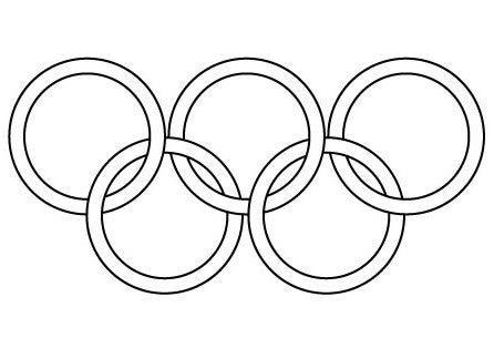 Coloriage Jeux Olympiques.Coloriage Jeux Olympiques Les Anneaux Olympiques Momes
