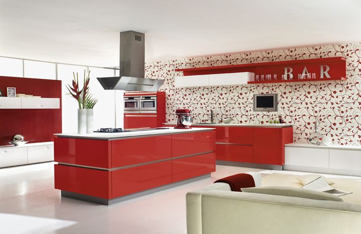 Red Kitchen Kitchen Color Ideas For Modern Kitchens Kitchen